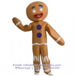 Christmas Mascot Costume Gingerbread Boy Man